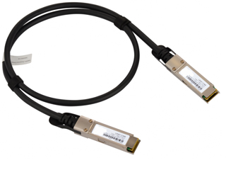 40Gbps QSFP+ Direct Attach Cable, 1M, QSFP+ to QSFP+, Passive